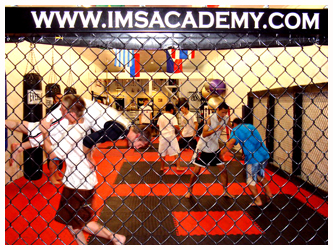 MMA practice at the old gym