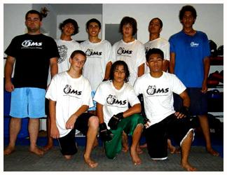 The teen MMA class